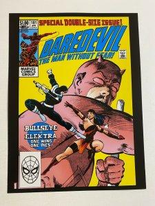 Daredevil #181 Bullseye Marvel Comics poster by Frank Miller
