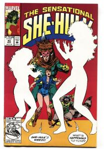 SENSATIONAL SHE-HULK #45 comic book-EARLY ROCKET RACCOON APPEARANCE-MARVEL