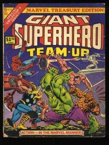 Marvel Treasury Edition #9 VG 4.0 Giant Superhero Team-Up Spider-Man Thor Hulk!