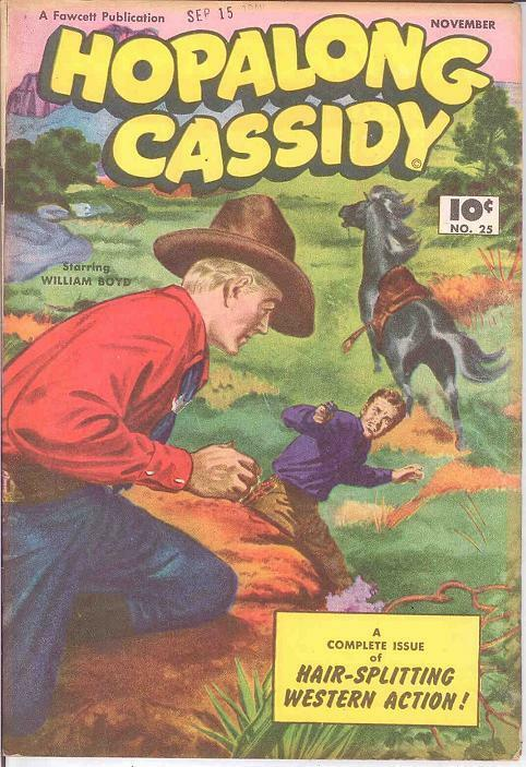 HOPALONG CASSIDY 25 VG-F   November 1948 COMICS BOOK