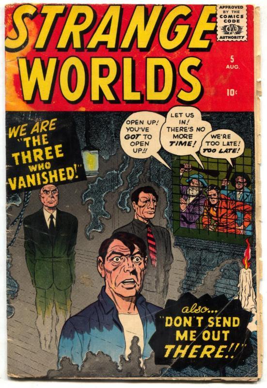 Strange Worlds #5 1959- Kirby cover- Marvel comics VG
