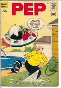Pep # 156 1962-Archie-Betty & Veronica-flying saucer-alien-Fl Girl-FN+
