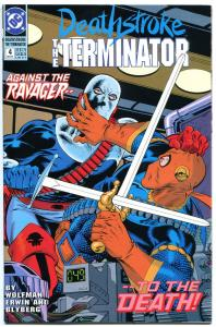 DEATHSTROKE the TERMINATOR #4, NM, Marv Wolfman,1991, hitman, more in store
