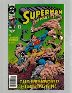 Superman Man Of Steel # 17 VF DC Comic Book Doomsday Batman Flash Aquaman SB5
