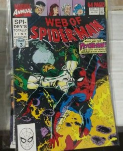 Web of spider-man annual # 6 1990 marvel  PSYCHO MAN +PUNISHER +CAPTAIN UNIVERSE
