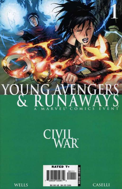 YOUNG AVENGERS /& RUNAWAYS 1 CIVIL WAR MINT 1st PRINT