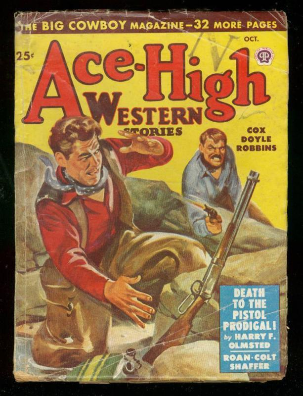 ACE-HIGH WESTERN PULP-OCT 1948-HARRY OLMSTED-WINCHESTER VG