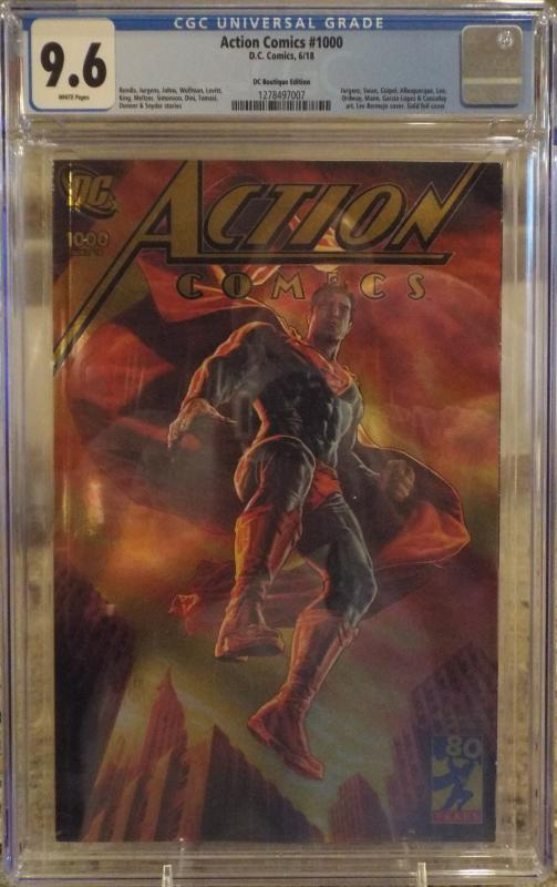 Action Comics #1000 CGC 9.6, DC Boutique Edition