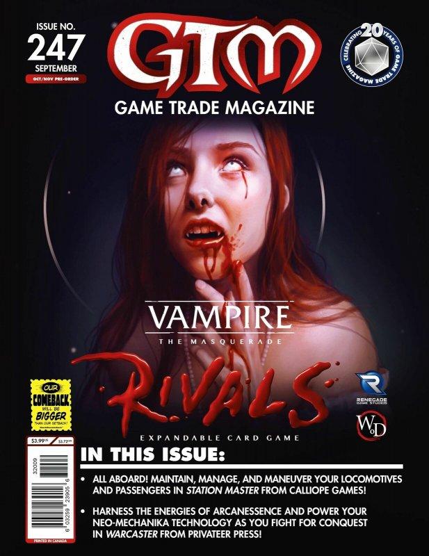 Game Trade Magazine #247 Vampire The Masquerade (GTM, 2020) - New!