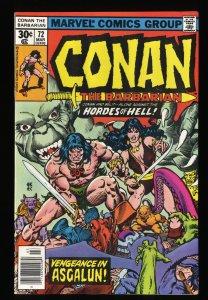 Conan The Barbarian #72 VF 8.0 Marvel Comics