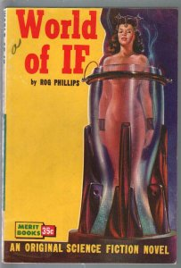 Merit Books #B-13 1951-World Of It -Rog Phillips-nude woman cover-VF