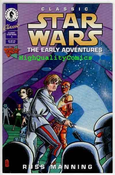 STAR WARS ; EARLY ADVENTURES #1, NM+, Russ Manning, Darth Vader, 1994
