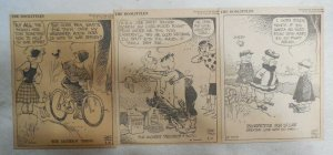 (300) The Doolittles Dailies by Quin Hall from 1943 Size 4 x 5 inches AP Strip