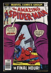 Amazing Spider-Man #164 VF+ 8.5 White Pages Kingpin! Marvel Comics Spiderman