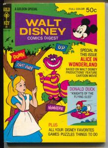 Walt Disney Comic Digest #46 1974-Alice in Wonderland-Carl Barks-VF