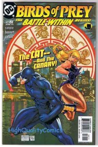 BIRDS of PREY #81, NM+, Black Canary, Huntress, 1999, more in store