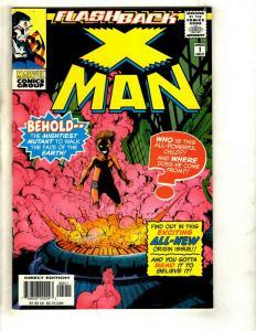 Lot Of 7 X-Man Marvel Comics 73 74 75 '96 '97 All Saints' Day -1 Flashback EK10