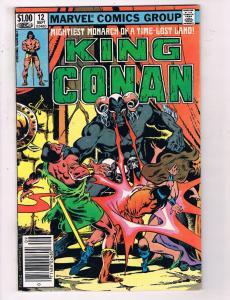 King Conan #12 VF Marvel Comics Group Comic Book Sept 1982 DE24
