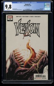 Venom (2018) #3 CGC NM/M 9.8 White Pages 1st Knull!