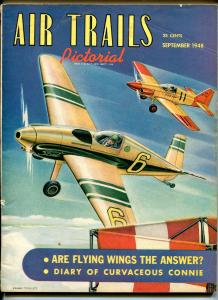 AIR TRAILS PICTORIAL 09/1948-PULP-FRANK TINSLEY-AIR RACERS-AVIATION PIX-vg/fn