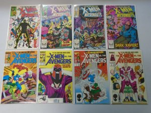 X-Men vs. Micronauts + Avengers 8 different comics 2 sets 8.0 VF (1984-87)