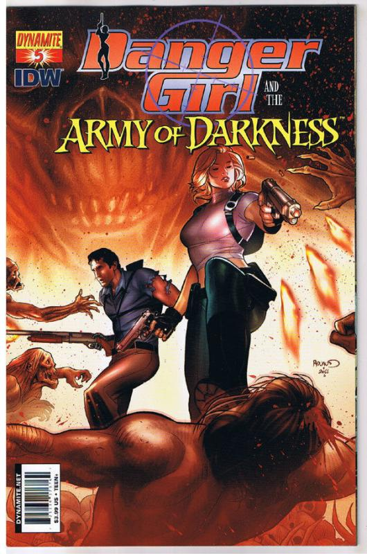 DANGER GIRL and the ARMY of DARKNESS #5 A, NM, Renaud, 2011, more AOD in store