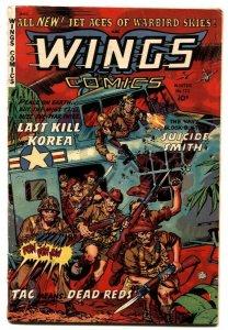 Wings Comics #122 1954- Fiction House -Korean War VG