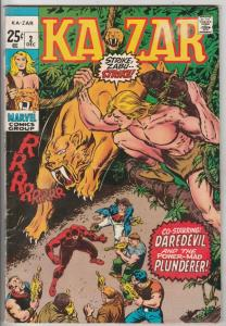Ka-Zar Featuring Daredevil #2 (Dec-70) FN/VF Mid-High-Grade Ka-Zar, Daredevil