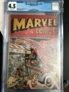Marvel Mystery Comics #74 Alex Schomburg Cover 4.5 CGC Golden Age Classic