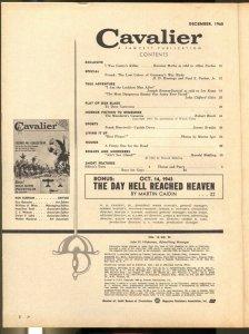 Cavalier 12/1960-Fawcett-Jack Davis-Castro's #1 Killer-pulp thrills-Robert Bloch