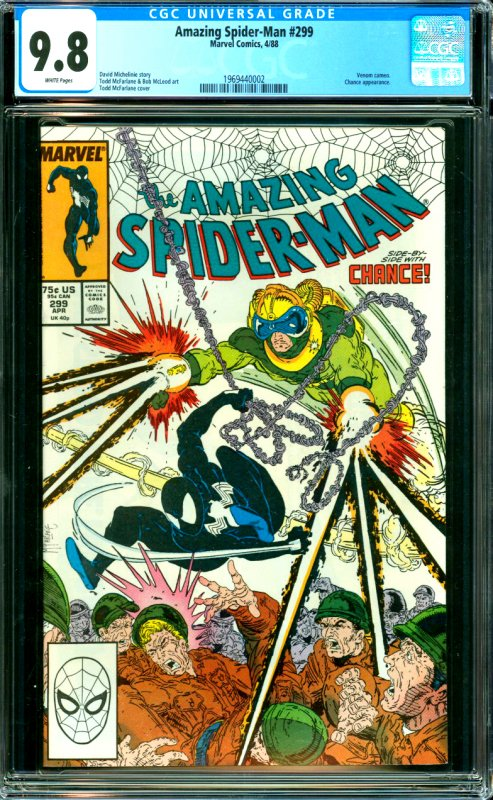 Amazing Spider-Man #299CGC Graded 9.8 Venom cameo. Chance appearance.