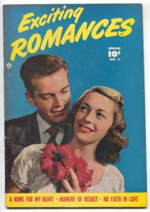 Exciting Romances #2 1950- Golden Age Comic- No Faith in Love VG/F