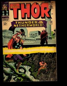 Mighty Thor # 130 FN Marvel Comic Book Ego Odin Loki Asgard Ulik Avengers NE3