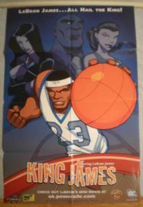 KING JAMES Promo poster, LeBron James, 24x36, Unused, more Promos in store