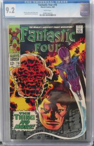 Fantastic Four 78 Sep 1968 CGC NM- (9.2)