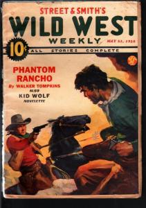 WILD WEST WEEKLY 5/21/1938-WESTERN PULP-PHANTOM RANCHO! VG/FN