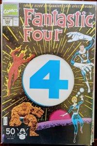 FANTASTIC FOUR #358. - 1st Paibok Power Skrull Die-Cut Anniversary. NM! HUGE KEY
