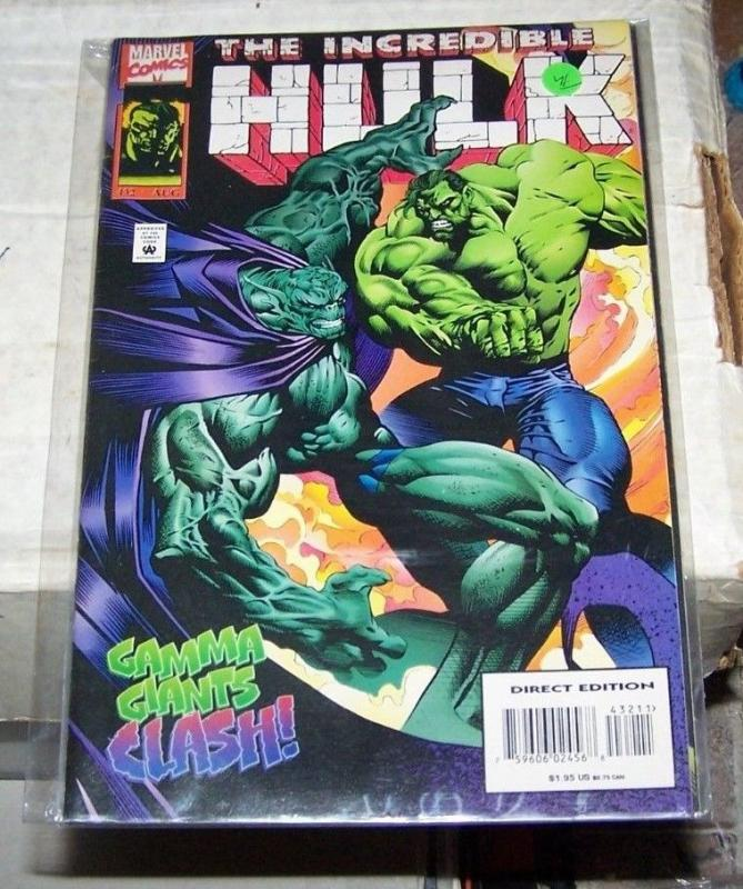 Incredible Hulk #432 (Aug 1995, Marvel) ABOMINATION GAMMA GIANTS CLASH BANNER