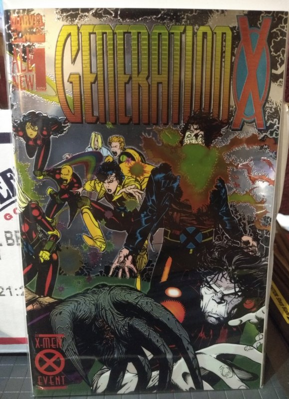 Generation X #1 1st appearance of Chamber & Penance Chromium wraparound cover NM
