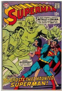 SUPERMAN (1939-1986) 214 VG-F Feb. 1969