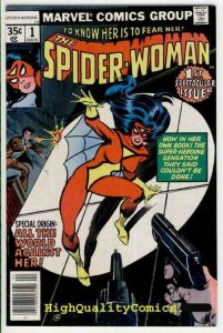 SPIDER-WOMAN #1, FN, Origin, 1978, Spider-man, Fear Her, Carmine Infantino
