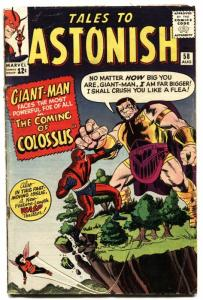 TALES TO ASTONISH #58-GIANT-MAN/WASP-SILVER AGE MARVEL! vg-