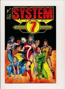 SYSTEM 7 #1, Arrow Comics ICPA 1987 ~ VF/NM(PF354B)