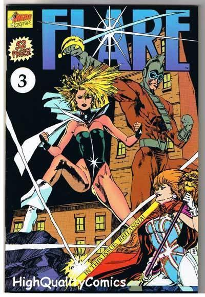 FLARE #3, NM+, Britannia, Good Girl,  Indy, 1990, more indies in store