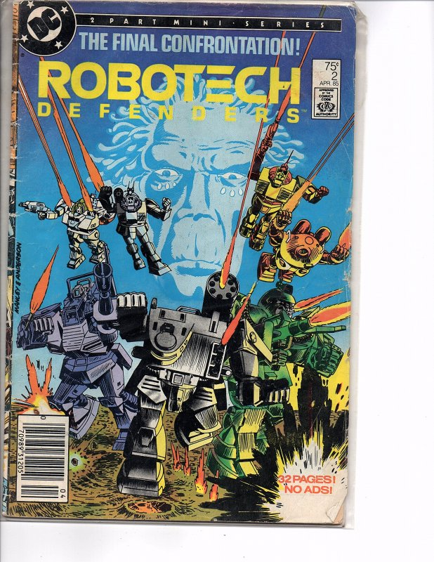 DC Comics Robotech Defenders #2 Newstand Last Issue