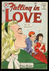 FALLING IN LOVE #37 1960-DC ROMANCE COMICS--REBEL HEART FN