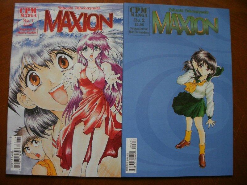 2 Near-Mint CPM Manga MAXION #1 #2 (1999 2000) Takebayashi (Mature Reader) Art