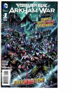 Lot Of 4 Forever Evil Arkham War DC Comic Books # 1 2 4 5 Batman Gotham J209