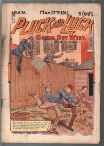 Pluck and Luck #676 5/17/1911-Tousey-Going Out West-pulp fiction-FR/G
