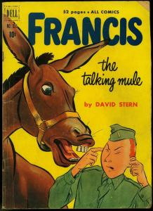 Francis the Talking Mule- Four Color Comics #335 1951- Dell Movie Comic VG-